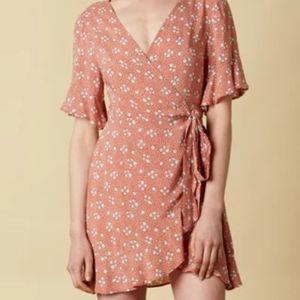 Cotton Candy Wrap Dress